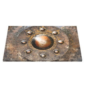 Buddhist Temple Gong Canvas Print