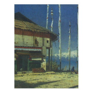 Buddhist temple in Darjeeling. Sikkim by Vasily Ve Postcard