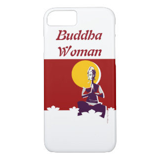 Buddhist woman, yoga posture iPhone 7 case