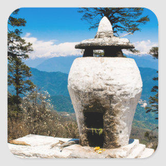 Buddhist Worship Site Square Sticker