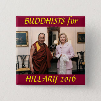 Buddhists for Hillary Clinton 2 Inch Square Button