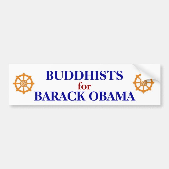 BUDDHISTS FOR OBAMA BUMPER STICKER