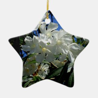 Budding Blossoms Ceramic Star Ornament