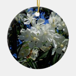 Budding Blossoms Round Ceramic Ornament