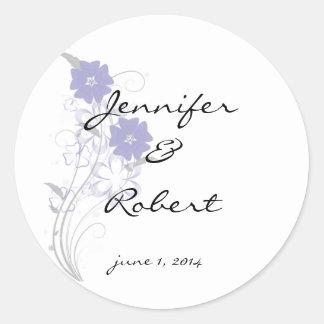 Budding Romance in Lavender Envelope Seal
