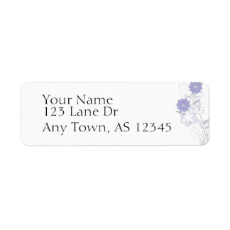Budding Romance in Lavender Return Address