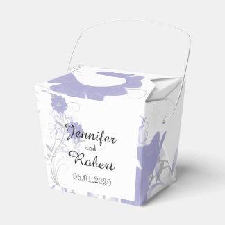Budding Romance in Lavender Wedding Favor Box