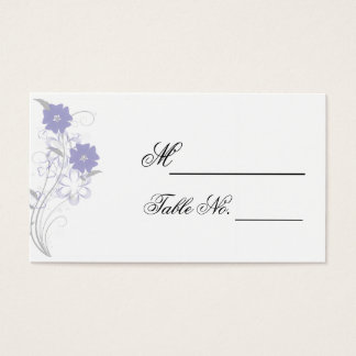 Budding Romance in Lavender Wedding Place Card