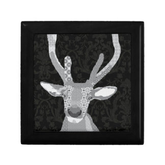 Buddy Black & White Box Jewelry Box