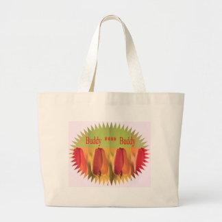 Buddy Buddy: Flower Buds Canvas Bags