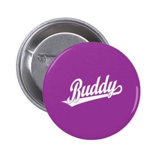 Buddy Script Logo in white Button