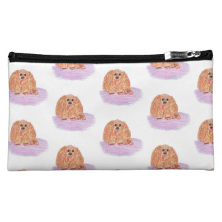 Buddy the Cocker Spaniel Pastel Art Cosmetic Bag