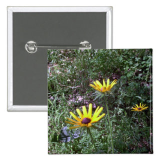 Buddy's Black Eyed Susans 2 Inch Square Button