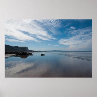 Bude beach Cornwall Poster