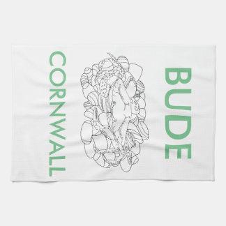 Bude Cornwall Cololuring book apparel - Shore Crab Kitchen Towel