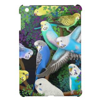 Budgerigar Budgie Parrots in Ferns iPad Mini Case