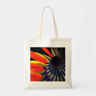 budget bag with abstract design