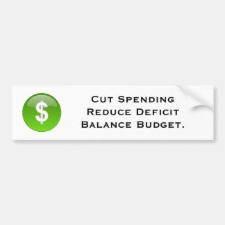 Budget Bumper Sticker
