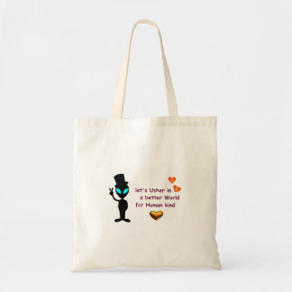 Budget Tote Bag - Alien Peace Call