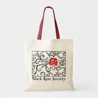 Budget Tote Bag, Black Rose Society | Heartblaze