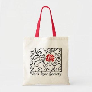 Budget Tote Bag, Black Rose Society | Heartblaze