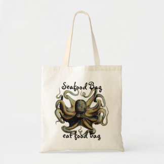 Budget Tote bag Seafood  Eat Food Octopus