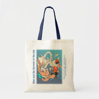 Budget tote - cats riding fish (Kiwi Series)