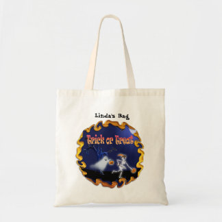 Budget Tote Halloween Candy Bag for Kids With Name