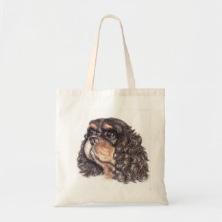 Budget Tote with Max The Cavalier King Charles