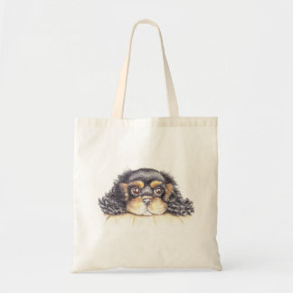 Budget Tote with  Puppy Max The Cavalier