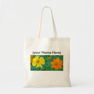 Budget Tote with Spring Wildflowers