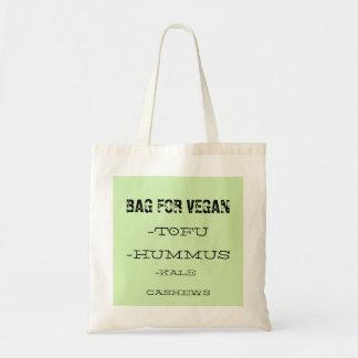 Budget white/green Tote bag for vegans