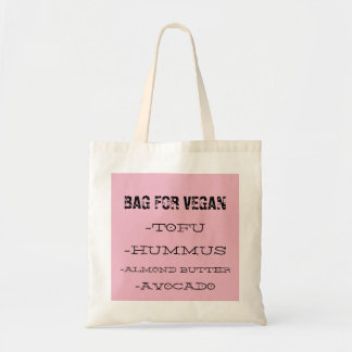 Budget white/pink Tote bag for vegans