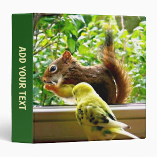 Budgie and Red Squirrel 3 Ring Binders
