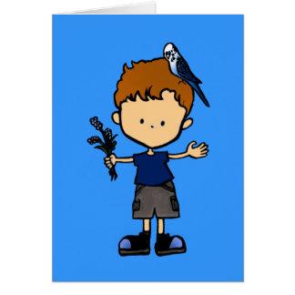 Budgie Boy card (C112b3)