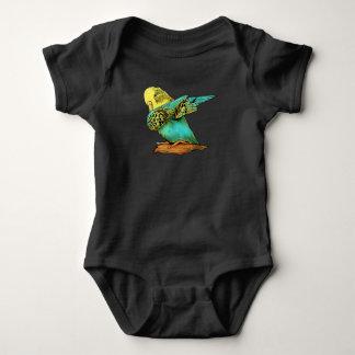 Budgie Budgerigar Dabbing Baby Bodysuit