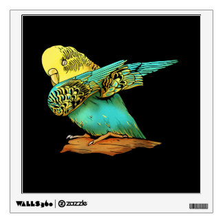 Budgie Budgerigar Dabbing Wall Decal