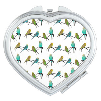 Budgie Frenzy Compact Mirror (choose colour)