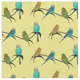 Budgie Frenzy Fabric (Yellow)
