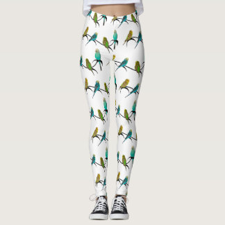Budgie Frenzy Leggings (choose colour)