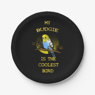 Budgie is the Coolest Bird 7 Inch Paper Plate
