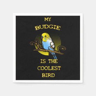 Budgie is the Coolest Bird Disposable Napkin
