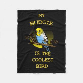 Budgie is the Coolest Bird Fleece Blanket