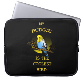 Budgie is the Coolest Bird Laptop Sleeve