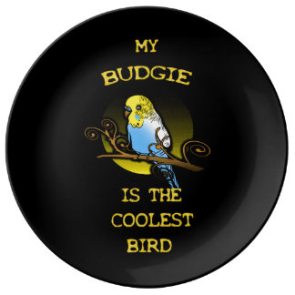 Budgie is the Coolest Bird Porcelain Plate