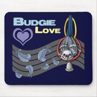 "Budgie Love ""Cutie"" Mousepad"