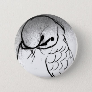 Budgie Portrait 2 Inch Round Button