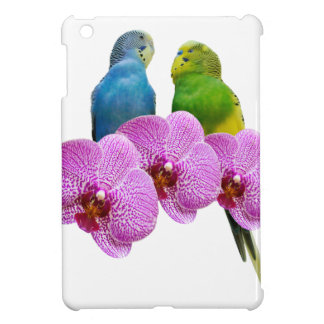 Budgie with Purple Orchid Case For The iPad Mini