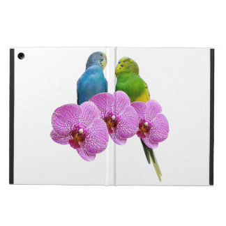 Budgie with Purple Orchid iPad Air Cover