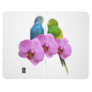 Budgie with Purple Orchid Journal